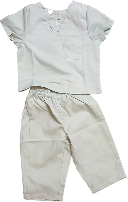 Childrens Infant Toddler Medical Scrubs Costume - Color Green