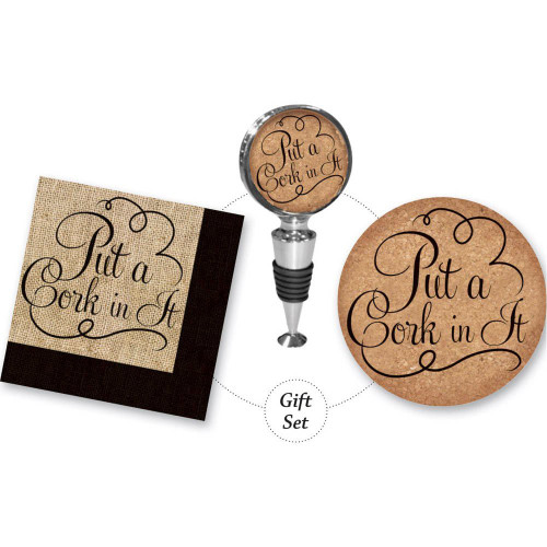 Put A Cork In It Cork It Up! Wine Lover Gift Set (P1287)