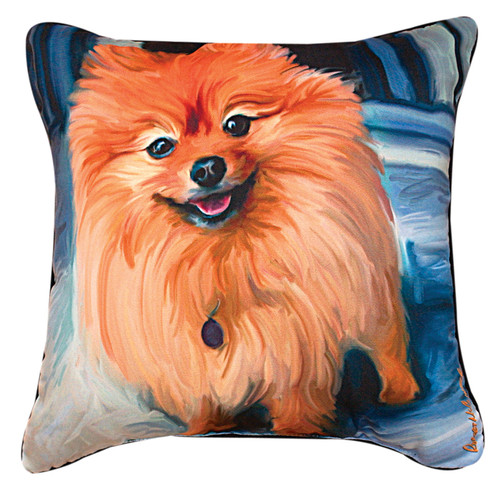 Paws & Whiskers 18in Pillow - Blue Pommeranian (SLBPPM)