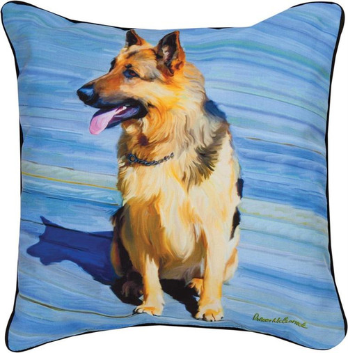 Paws & Whiskers 18in Pillow - Big Shutz German Shepherd (SLBSGS)