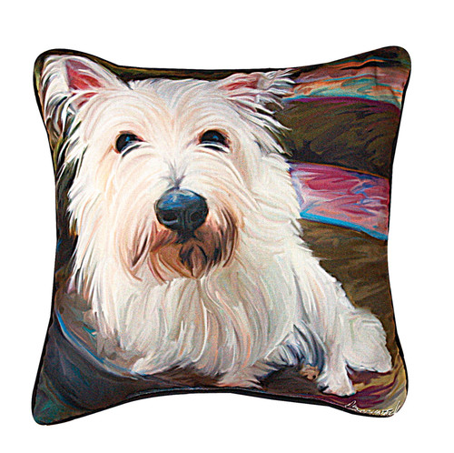 Paws & Whiskers 18in Pillow - Little Westie (SLLWWS)