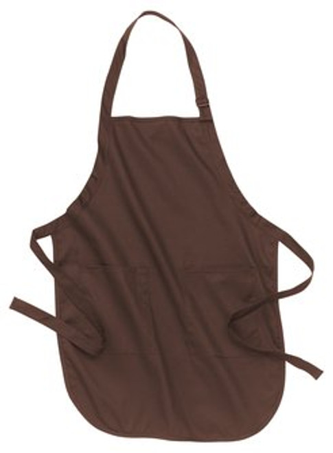 Port Authority Full Length Apron with Pockets - Coffee Bean