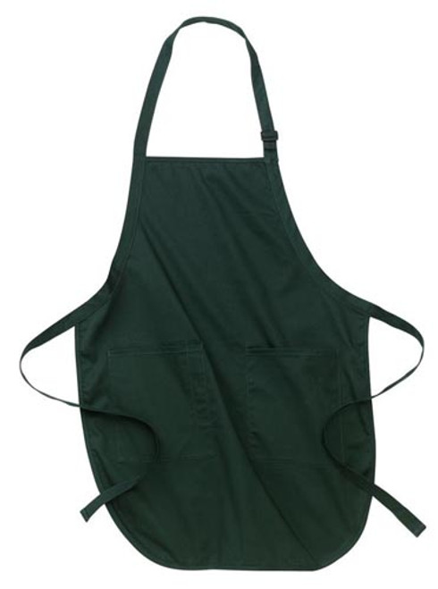 Port Authority Full Length Apron with Pockets - Hunter Green