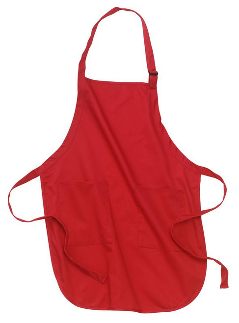 Port Authority Full Length Apron with Pockets - Red