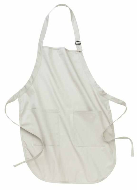Port Authority Full Length Apron with Pockets - Stone