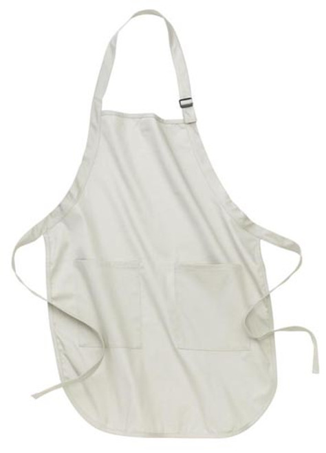 Port Authority Full Length Apron with Pockets - White