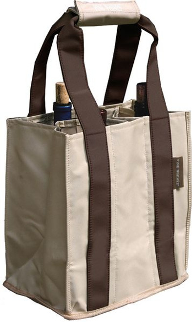 Fine Whines Canvas Party to Go Tote - Brown (PT800)