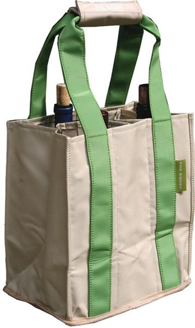 Fine Whines Canvas Party to Go Tote - Lime (PT801)