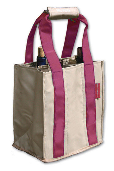 Fine Whines Canvas Party to Go Tote - Pink (PT802)