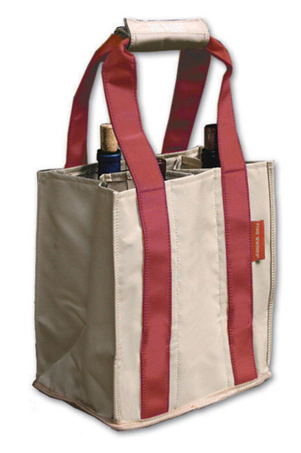 Fine Whines Canvas Party to Go Tote - Red (PT803)