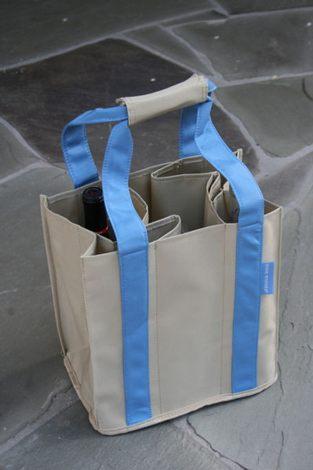 Fine Whines Canvas Party to Go Tote - Blue (PT805)