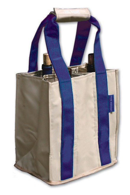 Fine Whines Canvas Party to Go Tote - Royal (PT808)