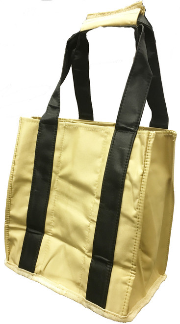 Fine Whines Canvas Party to Go Tote - Black & Tan (PT804)