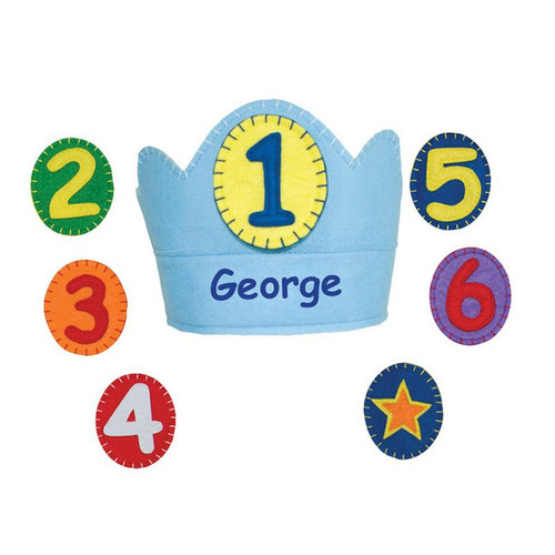 George Yearly Birthday Crown from Groovy Holiday