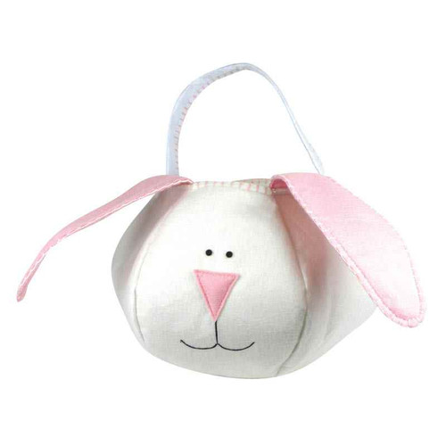 Groovy Holiday Pink Loopy Bunny Easter Basket