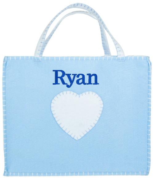 Felt Baby Bag - Blue (Ethan)
