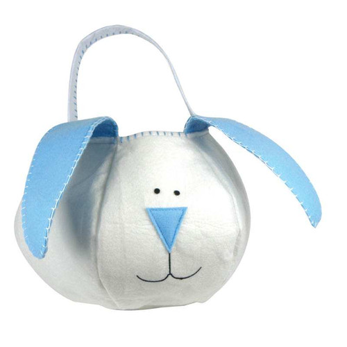 Groovy Holiday Blue Loopy Bunny Easter Basket