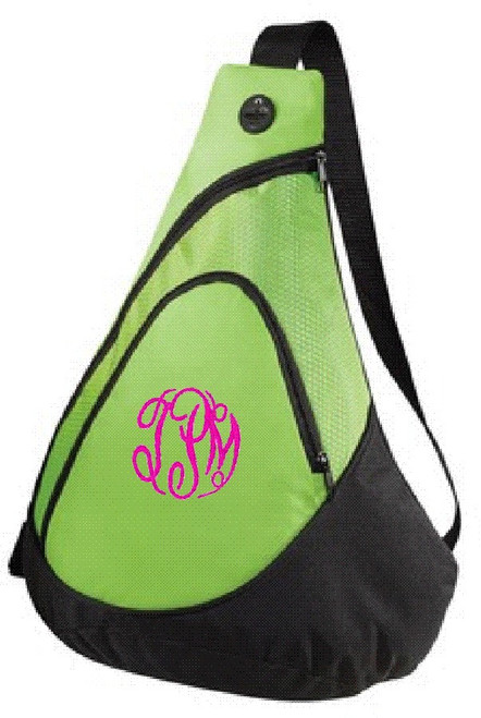 Honeycomb Sling Pack - Lime Green