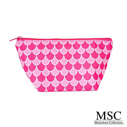 Mainstreet Colelction Cosmetic Bag - Pink & White Scales Pattern (CPSC/8005)