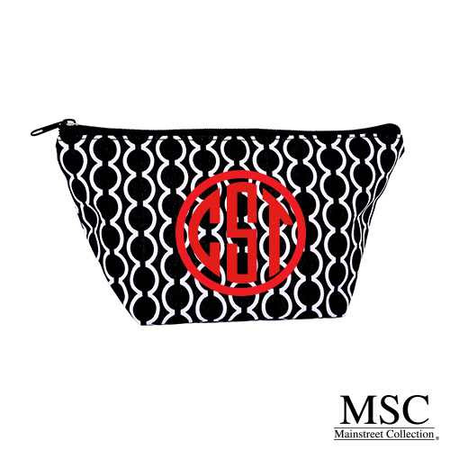 Mainstreet Collection Cosmetic Bag - Black & White Semicircle Pattern (CPSM/8007)