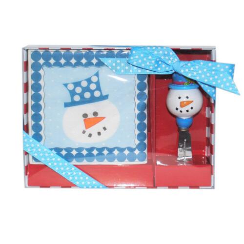 Napkin & Spreader Set - Snowman (NSSM/4587)