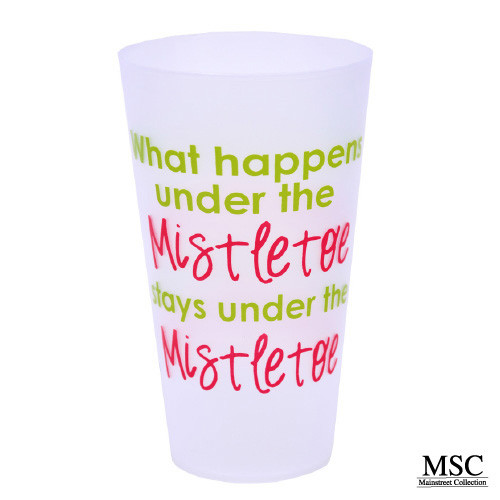 Christmas Tumbler - What Happens Under the Mistletoe, Stays Under the Mistletoe (VTHM/7055)