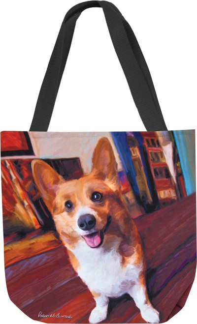 Paws & Whiskers 18in Tote Bag - Corgi Get Low (SOCGGL)
