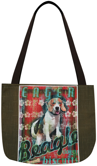 Dog Crossing Tote Bag - Beagle (SODCBG)