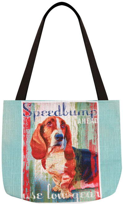 Dog Crossing Tote Bag - Basset Hound (SODCBH)