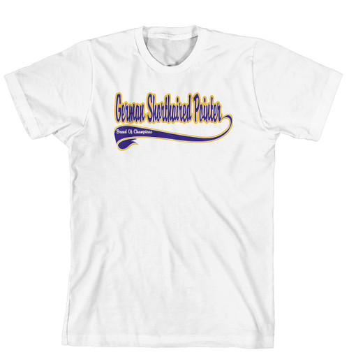 Breed of Champion Tee Blue Shirt - German Shorthaired Pointer