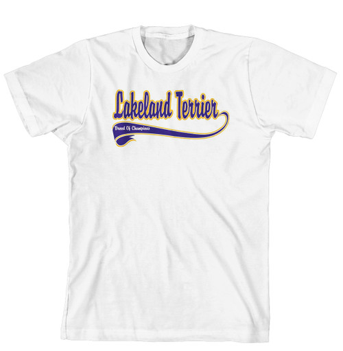 Breed of Champion Tee Blue Shirt - Lakeland Terrier (170-0002-286)