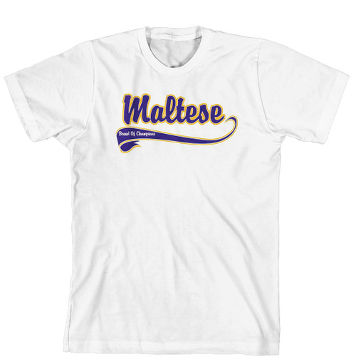 Breed of Champion Tee Blue Shirt - Maltese (170-0002-292)