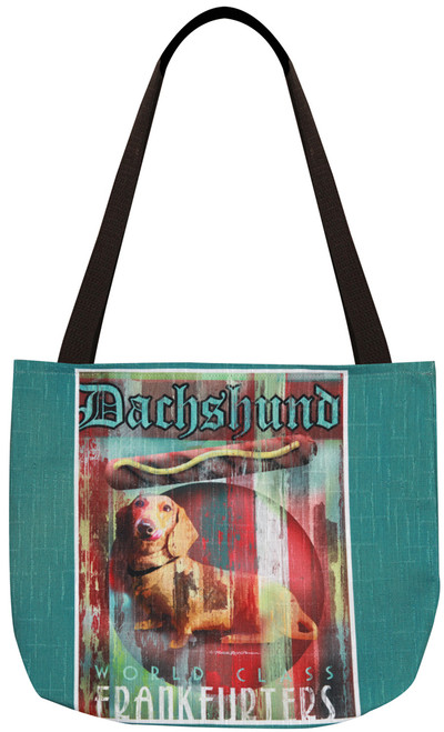 Dog Crossing Tote Bag - Dachshund (SODCDH)