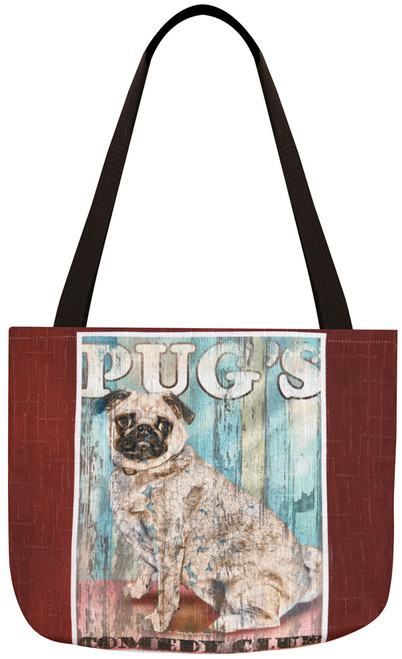 Dog Crossing Tote Bag - Pug (SODCPG)