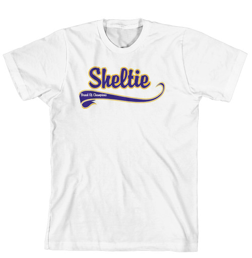 Breed of Champion Tee Blue Shirt - Sheltie (170-0002-368A)