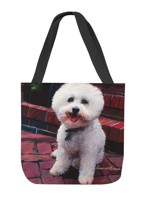 Paws & Whiskers 18in Tote Bag - Glam Dog Bichon Frise (SOGDBC)