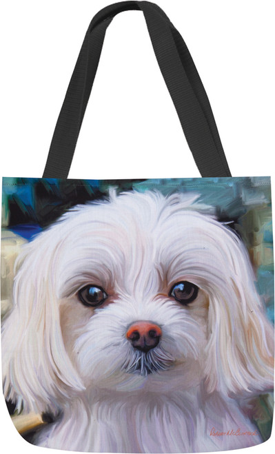 Paws & Whiskers 18in Tote Bag - Little Lord Malty Maltese (SOLLMM)
