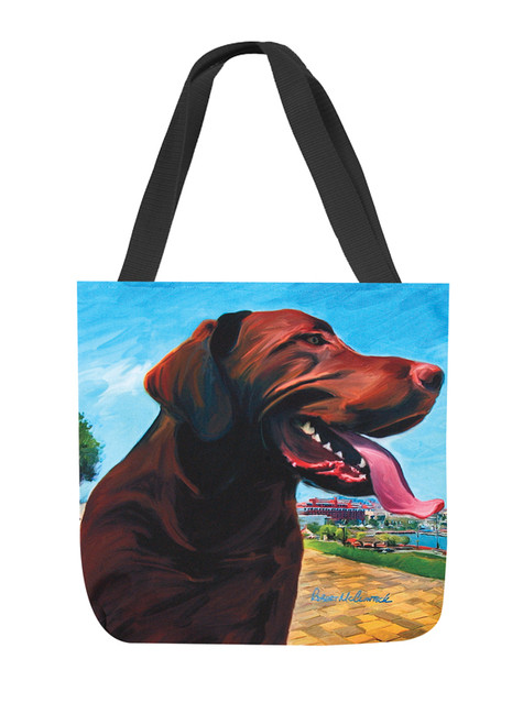 Paws & Whiskers 18in Tote Bag - View From Hill Chocolate Lab (SOVHCL)