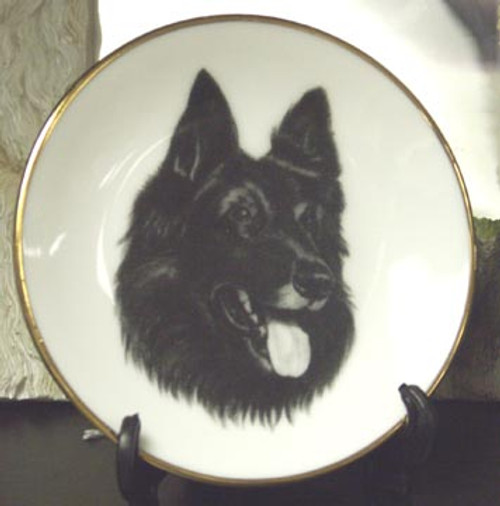 Mini Best In Show 4in Porcelain Plate - Belgian Shepherd