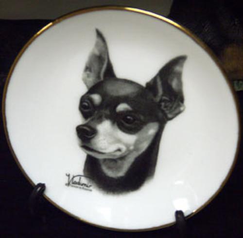 Mini Best In Show 4in Porcelain Plate - Minature Pincher