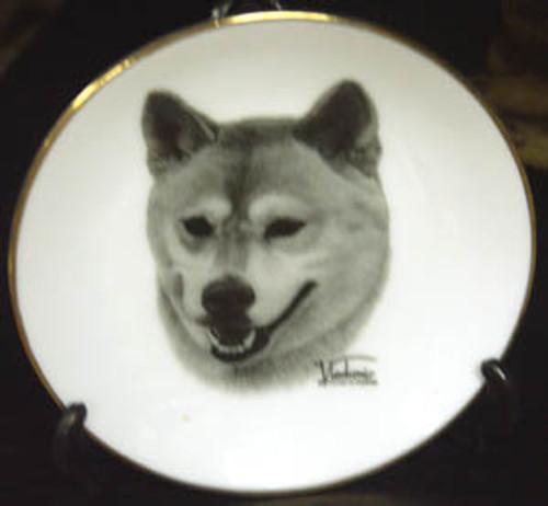 Mini Best In Show 4in Porcelain Plate - Shiba Inu