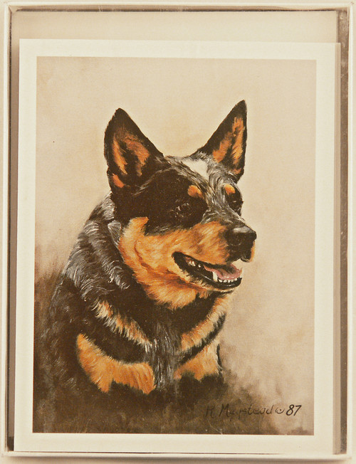 Ruth Maystead Note Cards - Australian Cattledog  (ACD4 NC)