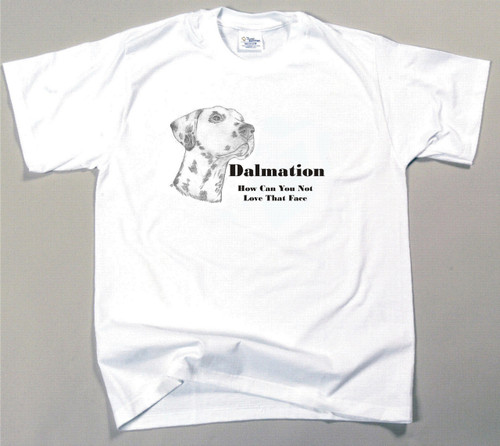 How Can You Not Love That Face T-shirt - Dalmation