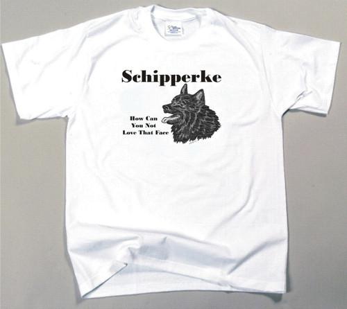 How Can You Not Love That Face T-shirt - Schipperke
