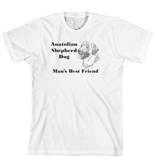 Man's Best Friend Dog Breed T-Shirt - Anatolian Shepherd Dog (170-0072-118)