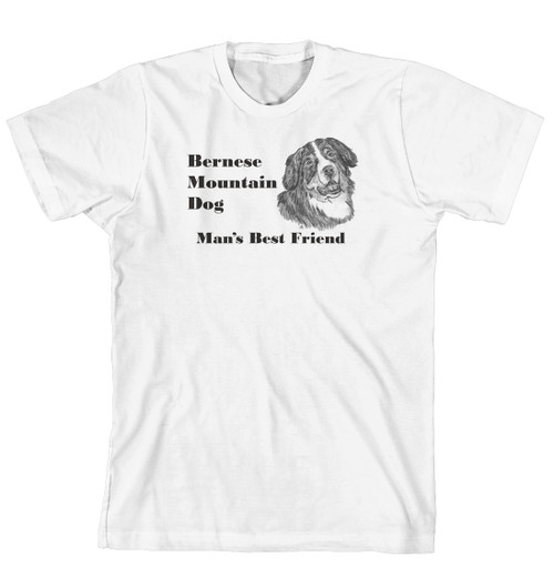Man's Best Friend Dog Breed T-Shirt - Bernese Mountain Dog (170-0072-144)