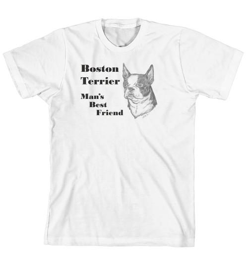 Man's Best Friend Dog Breed T-Shirt - Boston Terrier (170-0072-160)