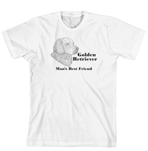 Man's Best Friend Dog Breed T-Shirt - Golden Retriever (244A) (170-0072-244A)