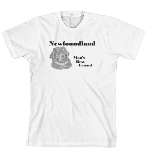 Man's Best Friend Dog Breed T-Shirt - Newfoundland (170-0072-306)