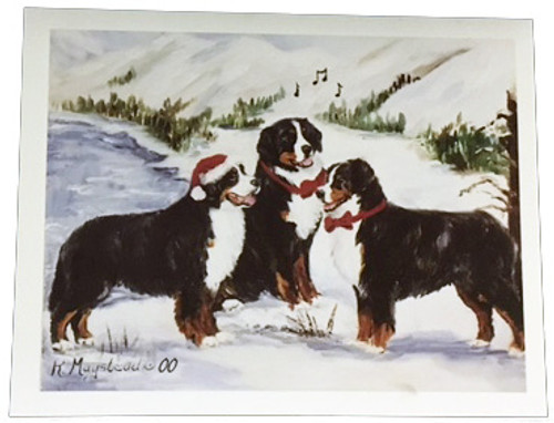 Mountain Christmas Cards.Ruth Maystead Christmas Cards Bernese Mountain Dog Bmd4x